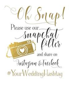 personalized gift bags wedding sign social media for snapchat instagram and