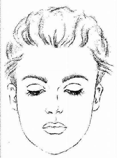 Face Makeup Practice Template Sheet Charts Printable
