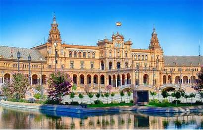 Seville Espana Spain Wallpapers Plaza Sevilla Europe