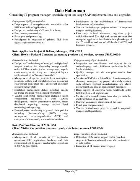 resume of dale halterman