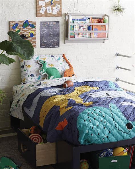 boys dinosaur themed bedroom crate  barrel