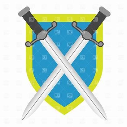 Shield Sword Clipart Clip Swords Crossed Cross