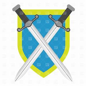Two crossed swords and shield Vector Image #1314 – RFclipart