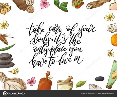 hand drawn quote  spa graphic elements  sketch