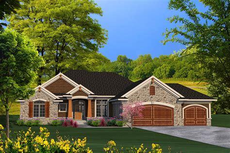 ranch house plan  craftsman detailing ah architectural designs house plans