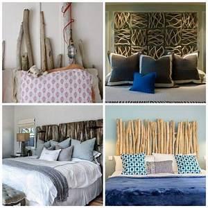 Tete De Lit Bois Sculpté : t te de lit bois flott pour une chambre d 39 ambiance naturelle ~ Teatrodelosmanantiales.com Idées de Décoration