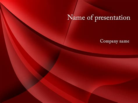red waves powerpoint template