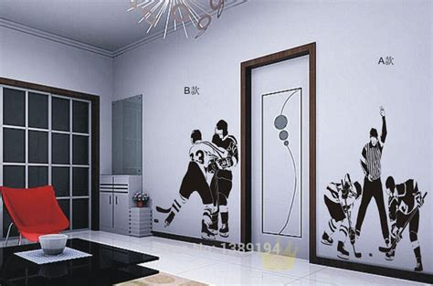 high quality ice hockey sports wall stickers living room tv wall romantic flowers decals home