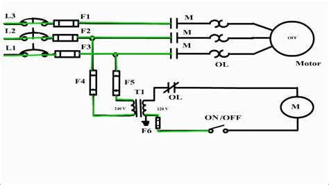 how to wire a motor circuit 2 wire control circuit diagram motor control basics controlling three phase motor youtube