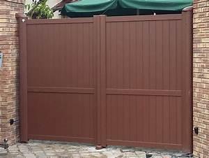 Portail Battant 5 Metres : portail pvc marron portillon blanc pvc expression maison ~ Nature-et-papiers.com Idées de Décoration
