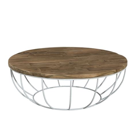 cuisines bois massif table basse ronde bois pied blanc 100cm tinesixe so inside