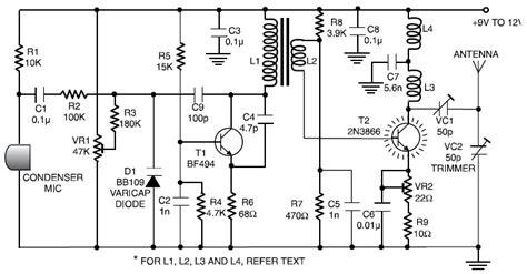 km long range fm radio transmitter circuit scheme