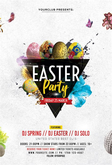 Permalink to Easter Flyer Templates Free