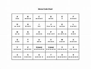 Sample Morse Code Alphabet Chart
