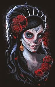 Tete De Mort Mexicaine Femme : santa muerte recherche google on we heart it ~ Melissatoandfro.com Idées de Décoration