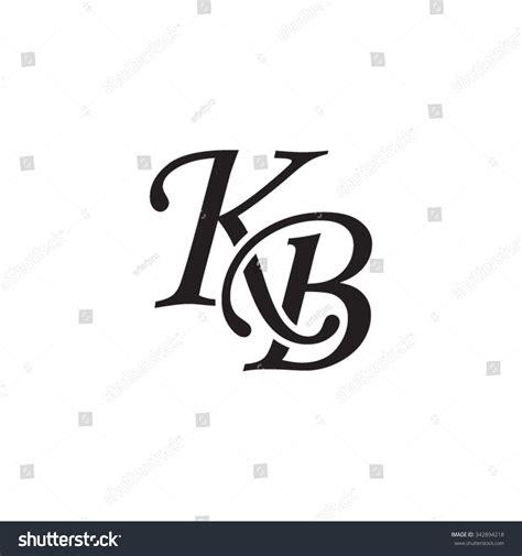 kb initial monogram logo stock vector royalty   shutterstock