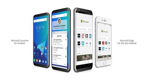 microsoft launcher microsoft edge beta available on apple ios store android play