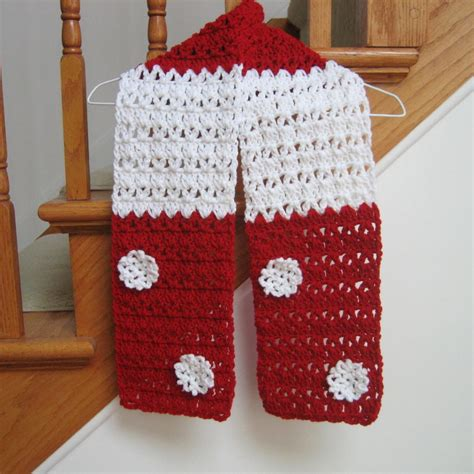 candy cane christmas scarf pattern favecraftscom