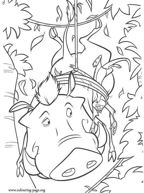Kleurplaat Pumba by Timon And Pumbaa Coloring Pages Coloring Home
