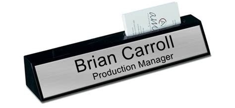 desk name plate with card holder black marble desk name plate with card holder brushed