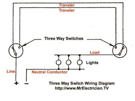 three way switch wiring diagram mr electrician
