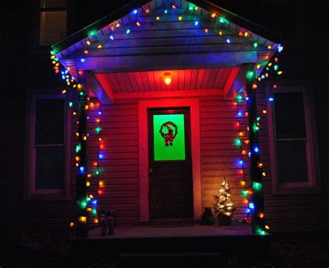 colored outdoor lights get your home ready for
