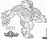 Invizimals Yeti Shadow Zone Coloring Pages Printable Yetis Max Peaks Himalayas Highest Powerful Hidden Oncoloring Unicorn sketch template