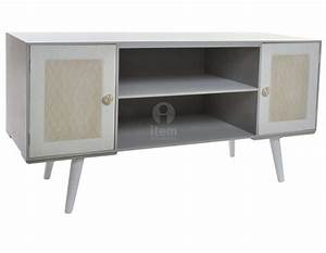 Meuble Tele Gris : meuble t l gris moderne avec deux placards et 2 niches ~ Teatrodelosmanantiales.com Idées de Décoration