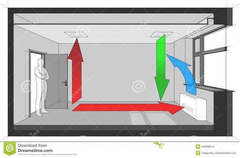 bathroom wall exhaust fan ceiling air ventilation and wall fan coil unit diagram