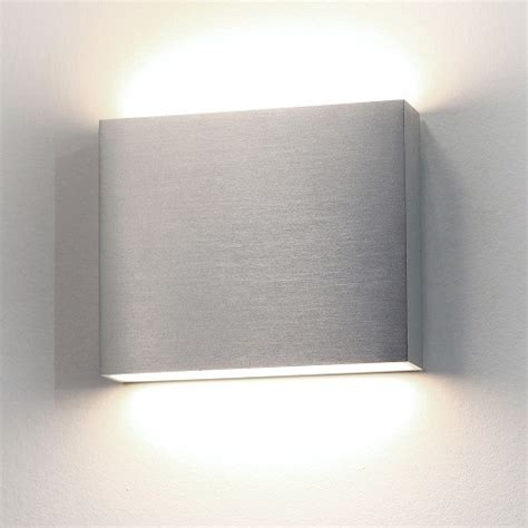 astro modern led up and aluminium exterior wall light