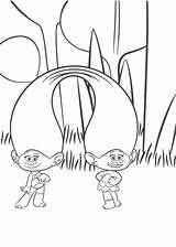 Coloring Twins Pages Trolls Bubakids Cartoon Concerning Thousands Line sketch template