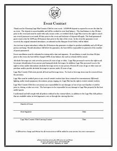 event contract after printing the contract of your choice With event management agreement template