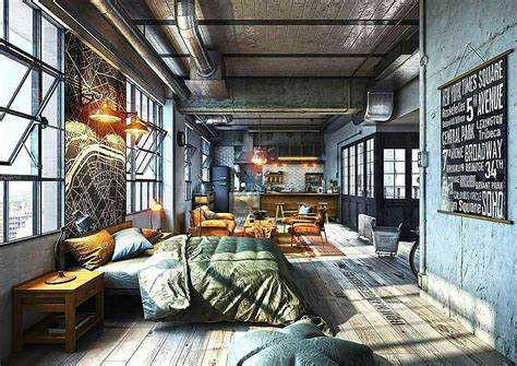 Loft Industrial Style feel inspired with these new york industrial lofts