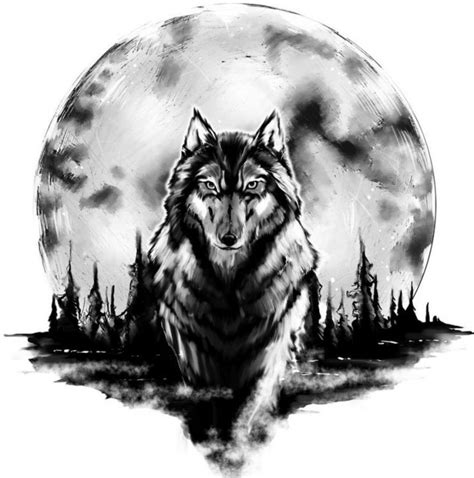 wolf vorlage vorlagen 60 kostenlose tiermotive tattoovorlagen