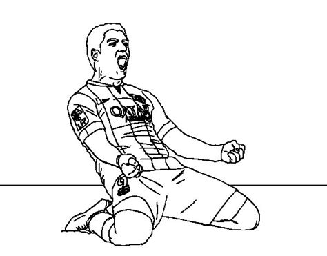 Kleurplaat Barcelona Messi by Luis Su 225 Rez Bar 231 A Player Coloring Page Coloringcrew