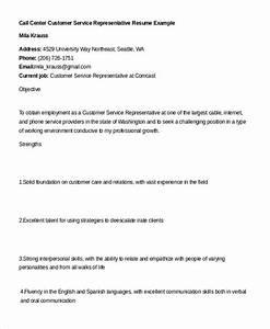 customer service representative resume 9 free sample With call center customer service representative resume