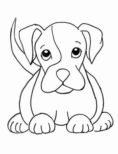 Coloring Boxer Puppies Puppy Dog Pages Printable