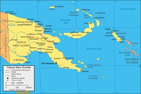 papua  guinea map  satellite image