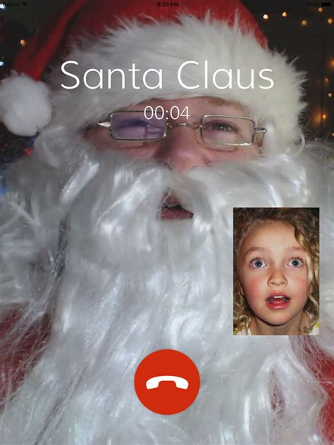 video call santa claus christmas catch kids wish on the
