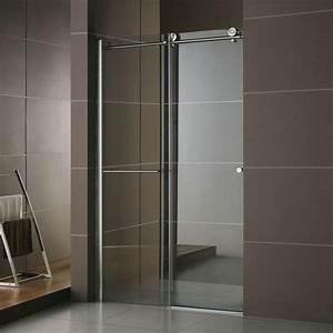 porte de douche coulissante rolling 120 a 160 cm With porte de douche coulissante avec meuble a miroir salle de bain
