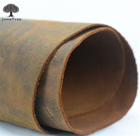 Thick Cowhide Leather by Junetree Cowhide Cow Leather Brown Thick