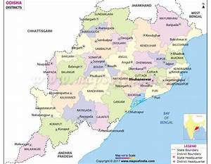 Buy Odisha District Map