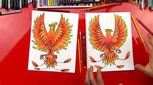 Phoenix Bird Drawing How To Draw A Phoenix Art For Kids Hub