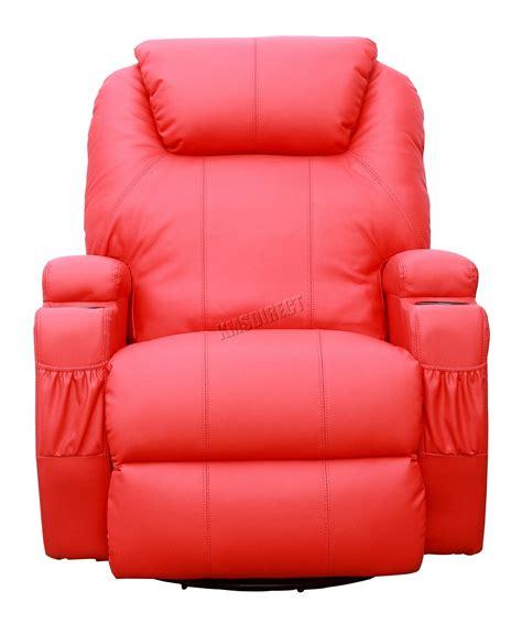 massage sofa chair foxhunter bonded leather sofa recliner chair swivel rocking heating new ebay