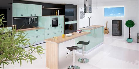 cuisine vert d eau cuisine créa cuisine le rouret cuisine bains rangements