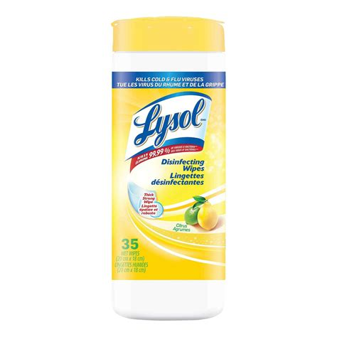 Lysol Disinfecting Wipes - Citrus Scent | Diversey Global