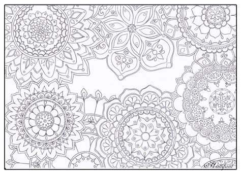 stress relief mandala flowers hattifant