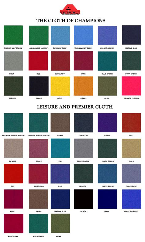 pool table cloth colors cloth njnypooltableservices