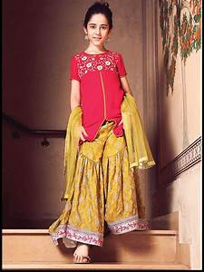 Cute Sharara Gharara Dresses of Little girls for Wedding Functions Weddings Eve