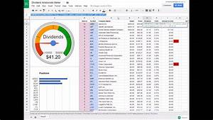 Stock In Out Excel Template How To Build A Dividend Tracker Spreadsheet Youtube